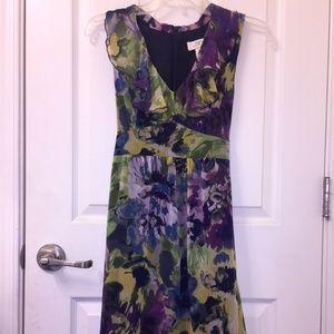 Ann Taylor LOFT Floral Chiffon Dress